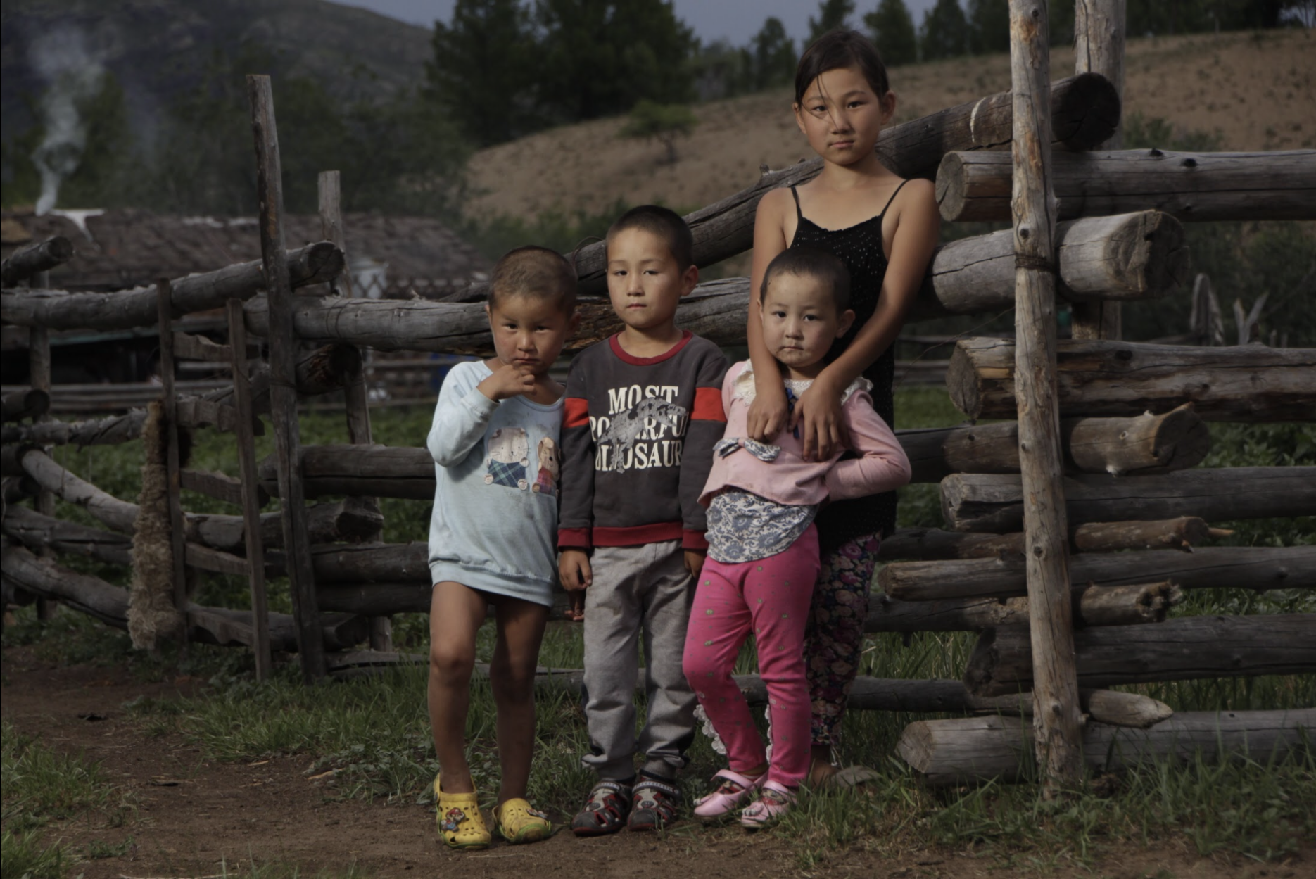 Bulgan province, Mongolia kids portrait photo by Amirdash