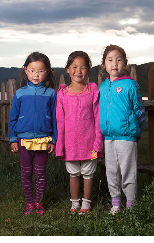 Mongolian kids portrait Mongolia photo by Amirdash